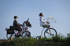 Don Quixote by Bicycle - on the Tarka Trail in North Devon!