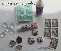 Saving with Sarah: DIY Photo Pendant for under $2.50! I think I might make a necklace or bracelet for my MIL for mothers day, with her kids and grandkids on it.