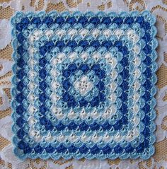 Dollhouse Miniature 1:12 Scale Baby Toddler or Child Afghan / Blanket 4 Crochet