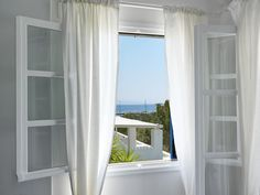 Room with a view. Paros Island, Shades Of White, Greece, Windows, Architecture, Room, Design, Home Decor, Greece Country