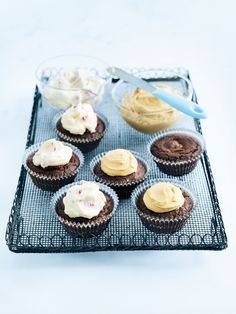 brownie cupcakes two ways from donna hay
