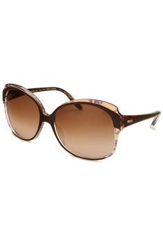 Emilio Pucci - Ladies' Bessie Square Sunglasses in Brown and Tortoise