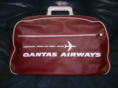 A vintage Qantas bag. My husband s Matchbox cars were stored in one of  these when 76284d6e59444