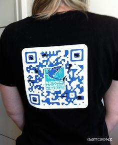 NATIONAL AQUARIUM OF NZ QR Code T Shirt