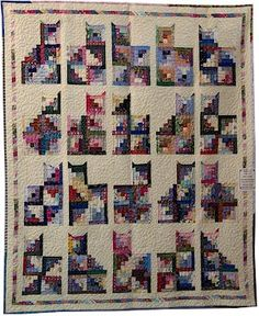 Cat log cabin quilt, I'm loving this one.