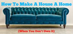 """Some day I'll have a huge house. And in that huge house will be at least one Chesterfield settee (yes, settee; don't come at me with that """"sofa"""" business. Where I'm from, it's a settee) Pavo Velvet Chesterfield Tufted Couch, Velvet Chesterfield Sofa, Blue Velvet Sofa, Mid Century Living Room, Mid Century Sofa, Living Room Grey, Living Room Sofa, Teal Couch, Turquoise Couch"""