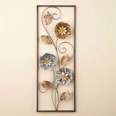 6d92086a6c Elegant Silver Gold Metallic Flowers Leaf Framed Wall Plaque Hanging Home  Decor #MettalicFlower #SilverGold
