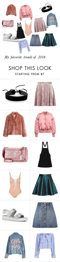 """""""My favorite trends of 2016"""" by fate-loves-cupcakes on Polyvore featuring Simons, Topshop, H&M, Yves Saint Laurent, Friend of Mine, ALDO, Anita & Green, High Heels Suicide, trend and 2016"""