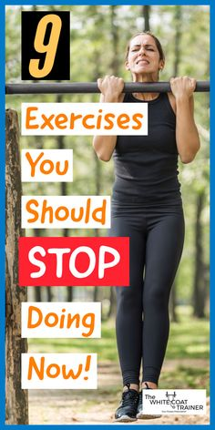 here are a lot of great exercises in the fitness library.However, there are also a bunch of bad exercises. Some A LOT worse than others.We have compiled a list of the 9 worst exercises you should never do. #worstexercises #badexercises #workoutroutine Rotator Cuff, Gym Stuff, Strength Training Workouts, Chin Up, Leg Raises, Core Muscles, Bench Press