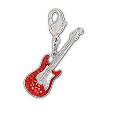 Red Guitar Charm