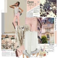 """""""When you get there be bright'n'sunny, babe"""", created by je-suis-un-lapin on Polyvore"""