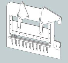 Thinking of building a press brake. Sheet Metal Roller, Sheet Metal Brake, Sheet Metal Tools, Welding Gear, Welding Shop, Welding Projects, Pliage Tole, Press Brake Tooling, Metal Bender