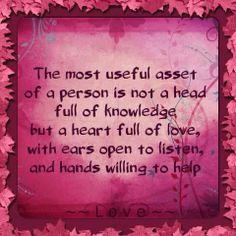 """""""The Most Useful Asset"""""""