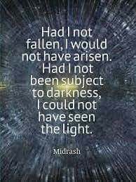 Had I not fallen,  I would  never have arisen.