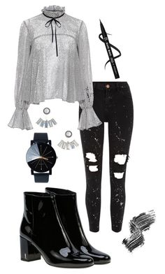 """Sans titre #92"" by celiaptqn ❤ liked on Polyvore featuring River Island, Yves Saint Laurent, Saloni, Aéropostale and Illamasqua"