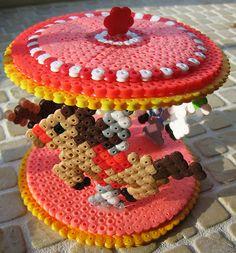 WOOOOW! 3-D Perler Bead Carousel by Kid's Birthday Parties, via Flickr