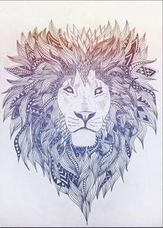 lion watercolor tattoo - Buscar con Google