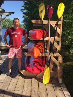 Do It Yourself Storage 2 Rack Solution — Storage Rack Solutions Diy Kayak Storage Rack, Kayak Rack, Boat Storage, Accessoires Kayak, Kayak Stand, Lake Toys, Firewood Storage, Outdoor Firewood Rack, Rack Solutions