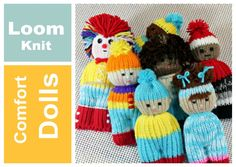 Loom Knit Dolls , a very easy pattern to do. JUST KNIT A LONG TUBE do a little sewing. Use-up all that scrap yarn. Great project for beginners. Learn how to ...