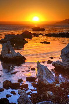 Sunset at Shell Beach, Central Coast area of California