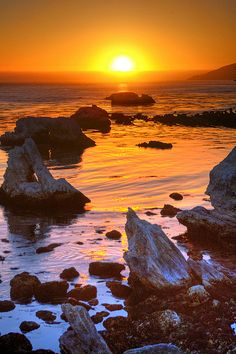 Sunset at Shell Beach, Central Coast area of California