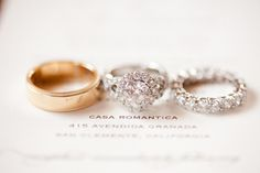 pretty, pretty rings all in a row  Photography by picotteweddings.com