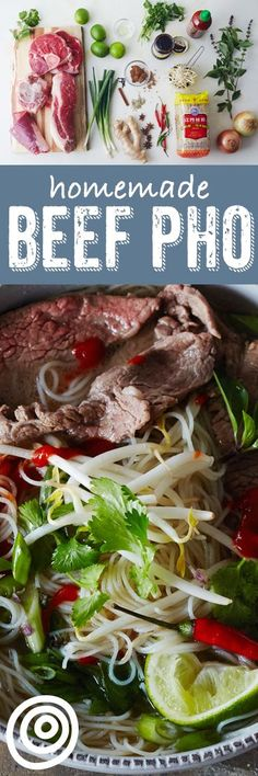 How To Make the Best Beef Pho at Home How To Make Homemade Vietnamese Pho: The Best Method and Recipe for Most Home Cooks. This beef pho recipe is a long process, but it's so worth it! This slow cooking and slow simmer soup is comfort food at it's finest. Asian Recipes, Beef Recipes, Cooking Recipes, Healthy Recipes, Cheap Recipes, Cooking Tips, Cooking Quotes, Fondue Recipes, Chicken Recipes