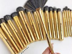 We are dying to get our hands on Morphe Brushes's ultra-glam gold brush collection