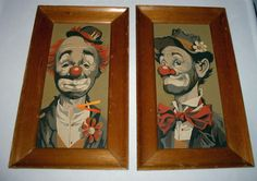 Paint by numbers clowns