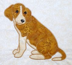 Beagle - from Darcy Ashton's small dogs applique designs