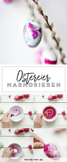 Marmorierte Ostereier