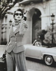 "80s-90s-supermodels:        ""High Society"", Harper's Bazaar, February 1992      Photographer : Matthew Rolston      Model : Ludmila Isaeva Malahova"
