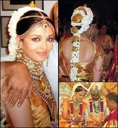 Jav 11 Steal-Worthy Celebrity Bridal Hairstyles That Soon-To-Be Brides Must Try South Indian Wedding Hairstyles, South Indian Weddings, Bride Hairstyles, Celebrity Wedding Hair, Celebrity Weddings, Bridal Lehenga, Saree Wedding, Wedding Dresses, Actress Wedding