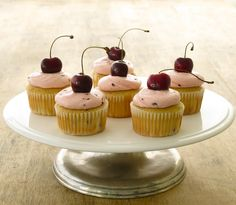 Jenny Steffens Hobick: Cherry Cupcakes with Cherry Almond Buttercream Icing | Cupcake Recipes