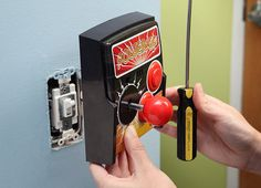 Power-Up Arcade Light Switch Plate! Replace your light switch with a joystick. Press the buttons for arcade sound effects (pew pew! For the future man-cave.