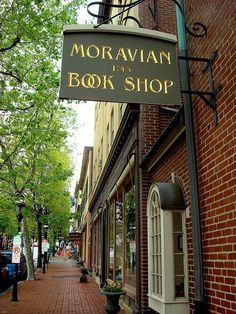 Moravian Book Shop, Bethlehem, Pennsylvania - founded in 1745 - the oldest bookstore in the US.