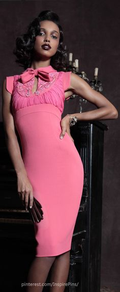 Pre-Fall 2013 Dsquared² pink cocktail dress