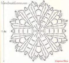 Irish Crochet Patterns, Crochet Symbols, Crochet Diagram, Crochet Chart, Knit Or Crochet, Crochet Motif, Crochet Doilies, Crochet Granny, Crochet Flowers