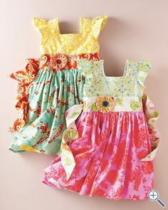 Moxie and Mable by Hopscotch Designs Flutter-Sleeve Party Dress - Baby Girls & Girls. I have a pattern close to this...I must try to recreate this!!