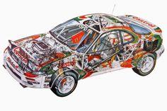 Toyota Celica GT-4 ST185 cutaway