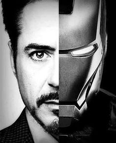 Nice black and white picture of Tony a.k.a Iron Man. Definitely one of my favorite superheroes!