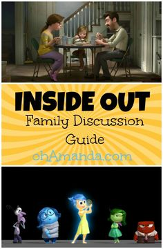 Pixar's Inside Out Family Discussion Guide Movie Inside Out, Disney Inside Out, Inside Out Emotions, Feelings And Emotions, Family Movie Night, Family Movies, Middle School Health, Understanding Emotions, Kids Daycare