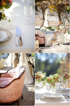 Using lounge at a table give a unique look to any wedding!
