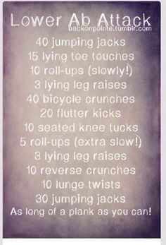 Lower Ab Workout .