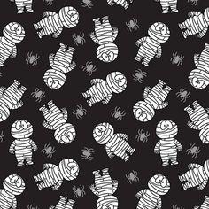 Mummy fabric by holladaydesigns on Spoonflower - custom fabric halloweenbackgrounds Halloween Wallpaper Iphone, Fall Wallpaper, Halloween Backgrounds, Wallpaper Backgrounds, Wallpapers, Halloween Clipart, Halloween 2020, Spooky Halloween, Pumpkin Mask