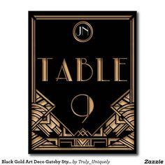 Tableau noir numéro 9 de style de Gatsby d'art Carte Postale