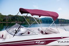 2014 TAHOE® Q5i Sport - Available in Black Cherry, Onyx or Blueberry (Black Cherry Shown) #biminitop #tahoeboats http://www.exclusiveautomarine.com/product/q5i-sport