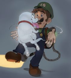 Super Mario Smash, Super Mario And Luigi, Super Mario Art, Mario Bros., Luigi And Daisy, King Boo, Nintendo, Mario Brothers, Fan Art