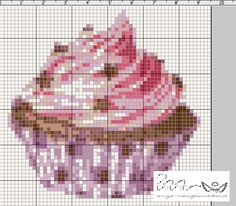 Ange's Blog: Free Violet Cupcake chart