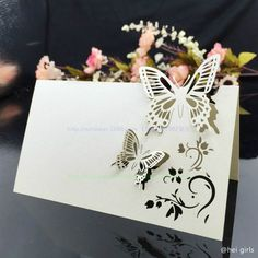 50pcs/lot Hollow Butterfly Wedding Invitations Laser Table Name Card Wedding Decoration For Supplies Business/Party/Birthday 5Z-in Invitation Cards from Home & Garden on Aliexpress.com | Alibaba Group